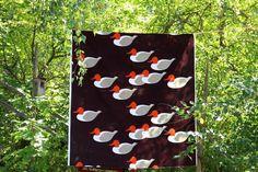 Vintage Tampella DUCKS fabric by Barbara Brenner, unused 8 meter piece - FourSeasons.fi