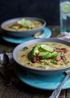Crock Pot Potato Corn Chowder with Roasted PoblanosReally nice  Mein Blog: Alles rund um die Themen Genuss & Geschmack  Kochen Backen Braten Vorspeisen Hauptgerichte und Desserts # Hashtag
