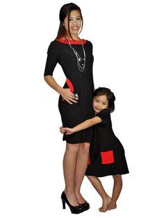 Matching mother-daughter dress - Emma Black Dress | meNmommy.com