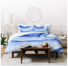 Blue Lace Agate in this cheerful blue and white agate design. Turn your basic, boring down comforter into the super stylish focal point of your bedroom. This Lightweight Duvet is made from an ultra soft, lightweight woven polyester printed top with a 100% polyester bottom. Includes a