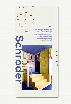 Gerrit Rietveld Posters #Modern #Schroderhouse #Architecture #Archdaily #Stairs Museum Poster, Stairs, Posters, Architecture, Modern, Projects, Arquitetura, Log Projects, Stairway