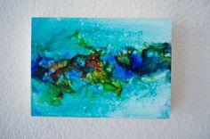 Alcohol Ink Painting  Abstract art  Alcohol Ink by islandgirlsj #integritytt #TIntegrityT #shoppershours @EarthRT @EtsyRT