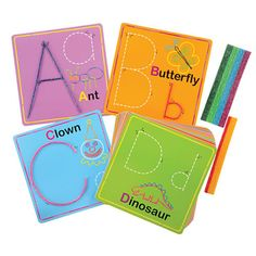 Wikki Stix® Alphabet Cards are mess free and reusable!