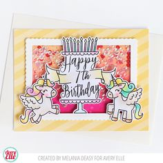 Melania  is on the blog today with this fun card!   I love the way the cake is personalized with the age of the recipient. The two ador...