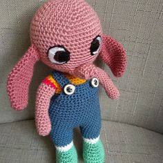 Háčkované slůňátko Crochet Dolls, Hello Kitty, Dinosaur Stuffed Animal, Toys, Animals, Fictional Characters, Activity Toys, Animales, Animaux