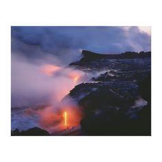 Kilauea Volcano, Hawaii Volcanoes National Park, 2 Gallery Wrapped Canvas