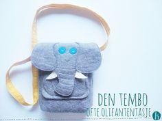 DIY tiny elephant bag