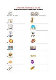 2 pages of singular and plural noun exercise)) I really had fun creating this one(fun of 3 hours)) I tried to include all the rules(-s-es-ies-ves and ...  sc 1 st  Pinterest & English worksheet: Singular - Plural | L D | Pinterest ...