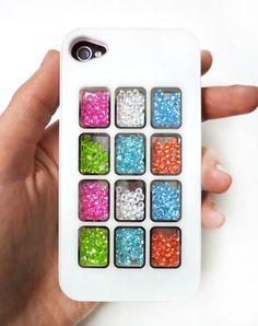 iPhone 4 Case in White with Clear Windows and inside by Craftasy, $17.00