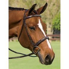 Marcel Toulouse Devon Wide-Nose Hunter Bridle. Chocolate. Horse/Full size.