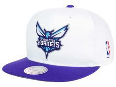 Charlotte Hornets Mitchell and Ness NBA XL Logo Snapback Cap Hats