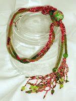 Bead Line Studios: Adding in Thread: bead crochet ropes