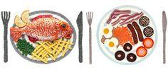 Platos combinados de ganchillo by Kate Jenkins #food #design
