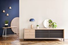Gabin is, after Marius, the second sideboard of the HARTÔ collection. It stands out thanks to the pattern inspired by the wicker and to the contrast between woo