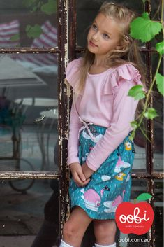 January Skirt Teal Swan | Girls Party Outfit | Oobi Girls Kid Fashion