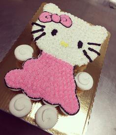 Hello kitty cupcake cake