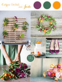 Modern Industrial Wedding Inspiration in Citrus, Orchid, and Jade   See More! http://heyweddinglady.com/citrus-orchid-and-jade-modern-industrial-wedding-inspiration/