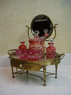 RARE RAREST Moser Miniature  Scent Vanity.