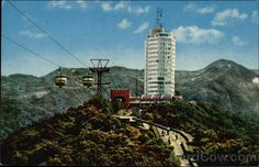 card00716_fr.jpg (600×387) Humboldt Hotel....on top of Mount Avila, Caracas, Venezuela.  I loved the teleferico ride up the mountain -- my mother?  I'd have to say she didn't like it very much!