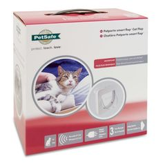 Pet Porte Microchip Smart Cat Flap - White Technologically advanced yet simple to operate, the Microchip Petporte Smart Flap® reads your cat's microchip to allow entry to your home, without the need for a collar. Pet Door, Pet Products, Your Pet, Teaching, Cats, Simple, Gatos, Kitty Cats, Learning
