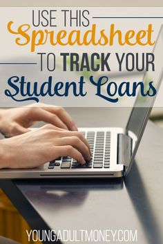 With the average college grad leaving school with over 30000 of student loan debt its more important than ever to stay on top of student loans Use this spreadsheet to tra. Apply For Student Loans, Paying Off Student Loans, Student Loan Debt, Online College, Education College, College Savings, Dave Ramsey, Make Money From Home, How To Make Money