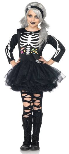 scary skeleton kids costume maria henderson rose shafer - Skeleton Halloween Costume For Kids