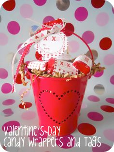 Valentine Candy Wrappers & Tags - free printable