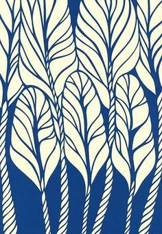 Petra Borner I like the simple colour scheme, the organic pattern Textile Patterns, Color Patterns, Print Patterns, Pattern Texture, Surface Pattern Design, Illustrations, Illustration Art, Feather Illustration, Art Brut