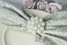 1 Pearl And Rhinestone Brooch Embellishment   by MsSarasTreasures