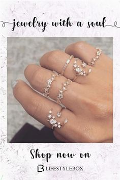 Buy Women Boho Style Crystal Star Moon Ring Set Silver Engagement Ring Vintage Flower Zircon Ring Wedding Jewelry Accessories at Wish - Shopping Made Fun