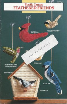 Feathered Friends Plastic Canvas Pattern by KnitKnacksCreations