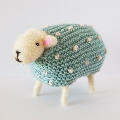 This sheeps name is Pearl. Weight 21 grams. She likes glow worms. She dislikes mud. Lovingly handmade using wool from Welsh Lleyn Sheep and comes with its own unique hand knitted jumper. Measuring approximately 12cm long and 8cm high. Each sheep comes in a gift box with a certificate of authenticity making them a wonderful and [...]