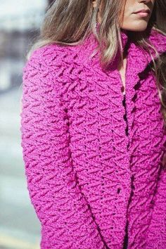 Free Crochet Patterns For 3 Winter Coats - Easy Crochet Winter Coat Ideeas