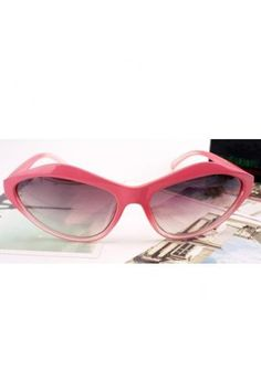868e0bcd258 Wholecolored Cat Eye Vintage Sunglasses Eye Shapes