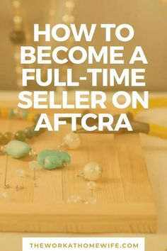 Learn how one handmade crafter is earning a full-time income on Aftcra. Work From Home Jobs, Make Money From Home, Make Money Online, How To Make Money, How To Become, Art Stand, Find Work, Personal Finance, Learning