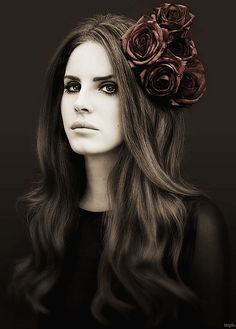 Lana Del Ray. so few people could pull off her look or style. Glamorous, seductress, timeless, trailer trash what ever she wants. ghostly and radiant :)