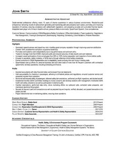 Administrative Assistant Department Of Health Sample Resume Professional Resume  Cover Letter Sample Assistant Resume Template .