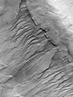 Gullies in a Mid-Latitude Crater, via HiRISE