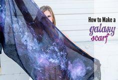 DIY: How to Make a Galaxy Scarf