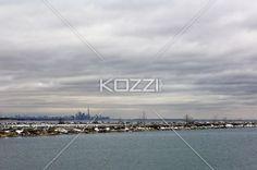 toronto skyline - Toronto's skyline mid-day in the winter.
