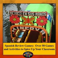 These Spanish games, activities, and ideas will put the fun back into your classroom.  Teach your students the target language while:  designing T-shirts, enjoying authentic food at your own language cafe, playing classroom sports, singing songs, writing fairy tales, acting out movies, and much, much more.  Your students will learn a ton, but won't even notice because they'll be having such a blast.  This Spanish review games product includes over 50 games, activities, and ideas and over 30…