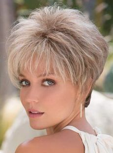 Roni by Noriko Wigs Frisuren hair cuts for women Pixie Hairstyles, Short Hairstyles For Women, Layered Hairstyles, Short Haircuts, Hairstyle Short, Modern Hairstyles, Bridal Hairstyles, Alternative Hair, Short Hair With Layers