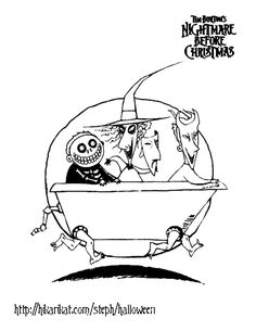 Nightmare Before Christmas Coloring Pages Kids The nightmare before christmas