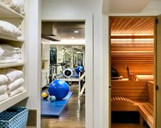 A Workout Room & Sauna off the Master Suite would be so divine.