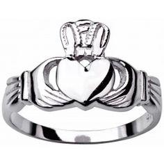 Mens Silver Claddagh Ring