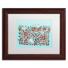 'Flower Monsters' by Carla Martell Matted Framed Graphic Art