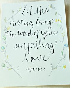 Calligraphy Bible Verse Drawing by gracefilledsigns on Etsy, $40.00