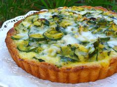 Zucchini Tart With Gruyere Cheese and Herbs - frozen pie shell