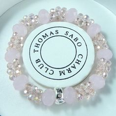 Thomas Sabo Bracelets Cheap Reconstructed Nugget Crystal Stretch Bracelet Pink