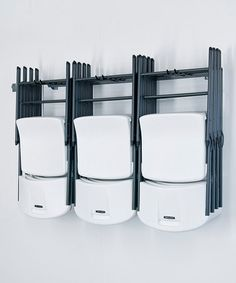 "This Gray Large Folding Chair Rack by Monkey Bars is perfect! #zulilyfinds 51""W x 4""H x 3""D $59.99"